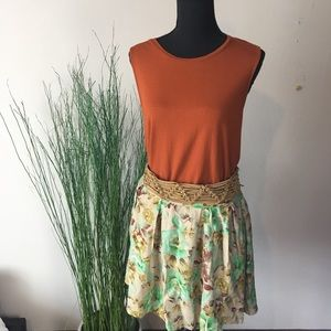 Anthropologie trending floral summer skirt
